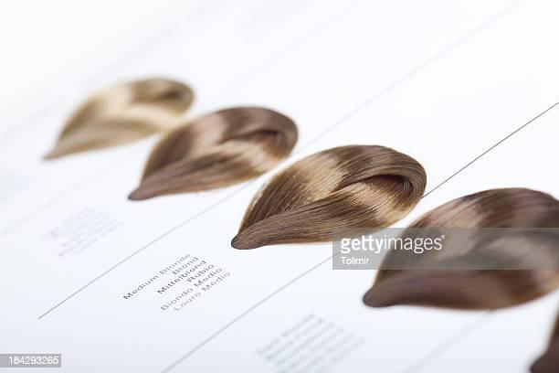 Haartönung Farbmuster