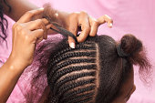 Updo African hairstyle with hair extension.Similar images preview: