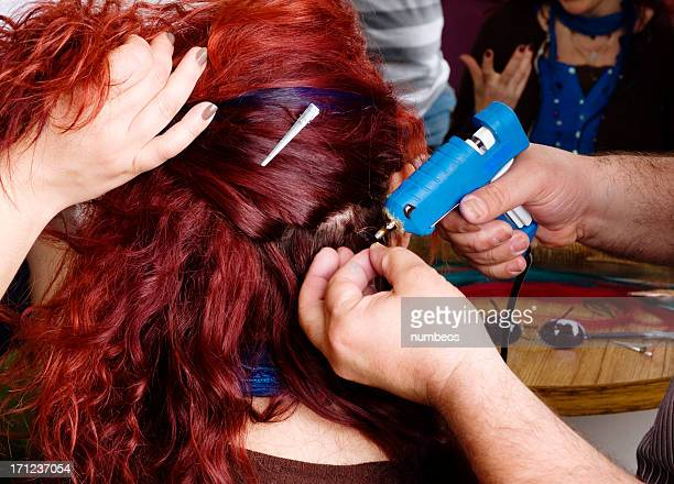 Hair extension stock photos and pictures getty images hair extensions pmusecretfo Choice Image