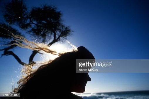 Hair in the wind : Stock Photo