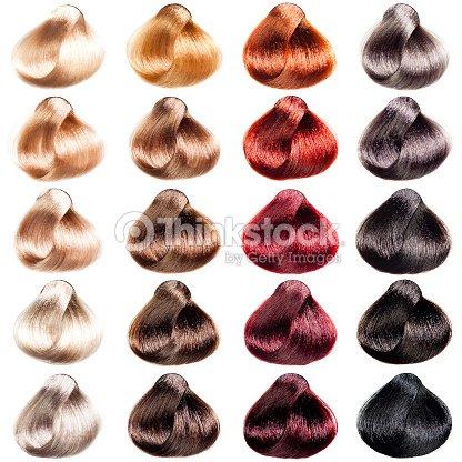 Haar Farbpalette Muster In Verschiedenen Farben Stock Foto Thinkstock