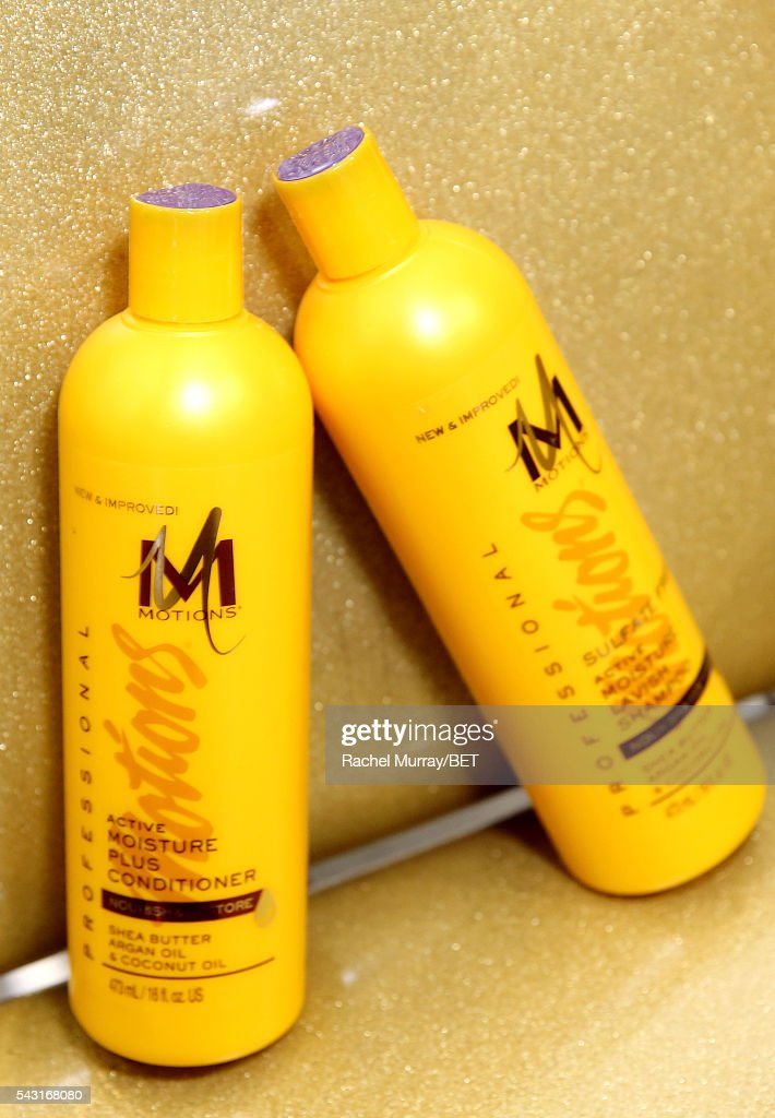 Hair products are displayed at the #It'sYourMove hair showcase powered by Motions during the 2016 BET Experience on June 26, 2016 in Los Angeles, California.