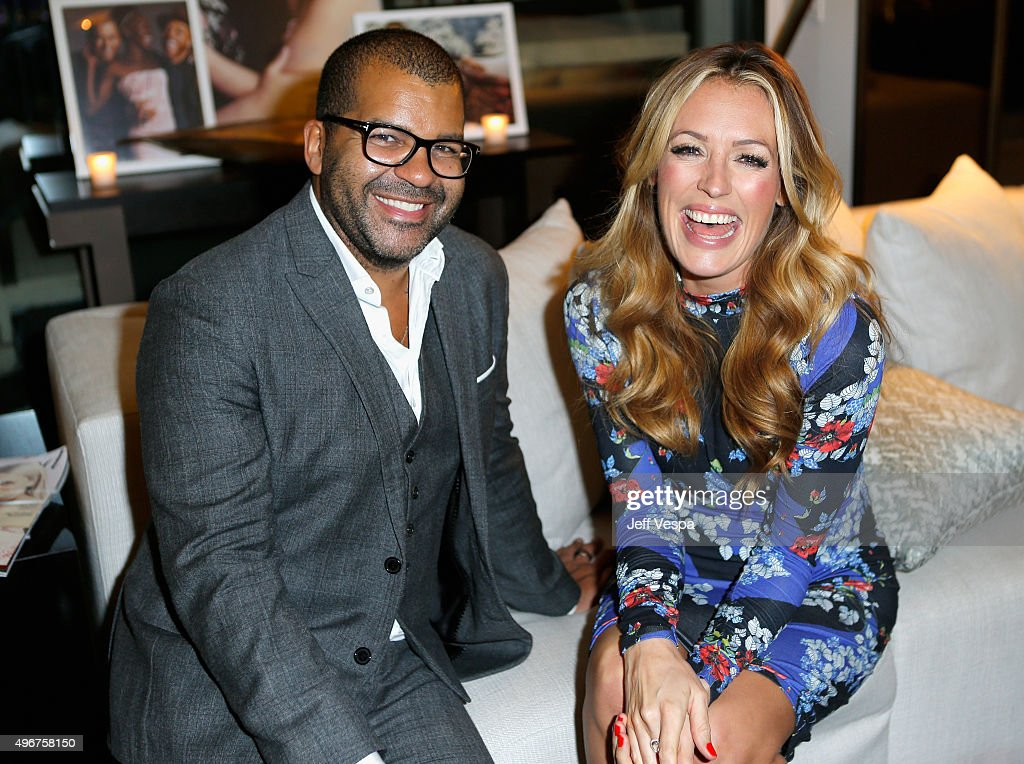Hair stylist Ben Skervin (L) and tv personality Cat Deeley attend The Hollywood Reporter's Beauty Dinner at The London West Hollywood on November 11, 2015 in West Hollywood, California.