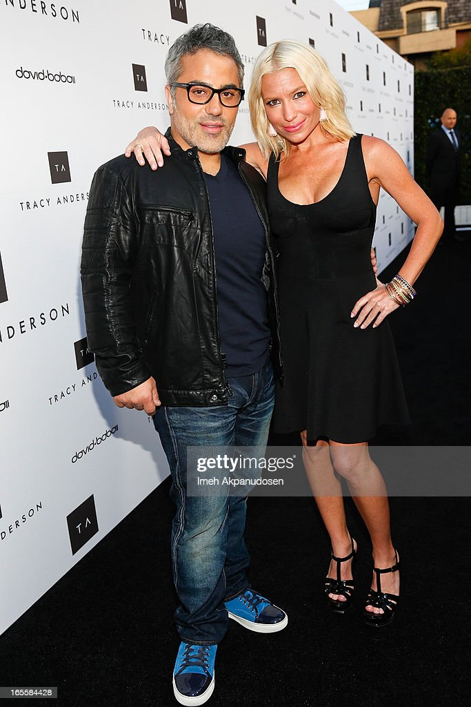 Hair stylist David Babaii (L) and multi-platform fitness/wellness entrepreneur <a gi-track='captionPersonalityLinkClicked' href=/galleries/search?phrase=Tracy+Anderson&family=editorial&specificpeople=2525428 ng-click='$event.stopPropagation()'>Tracy Anderson</a> attend the opening her new flagship studio at <a gi-track='captionPersonalityLinkClicked' href=/galleries/search?phrase=Tracy+Anderson&family=editorial&specificpeople=2525428 ng-click='$event.stopPropagation()'>Tracy Anderson</a> Flagship Studio on April 4, 2013 in Brentwood, California.