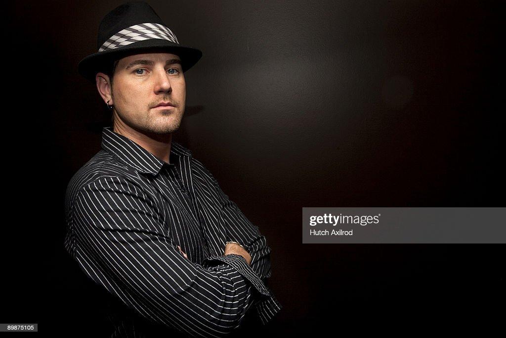 Hair Stylist Male Model Studio Shoot  : Stock Photo