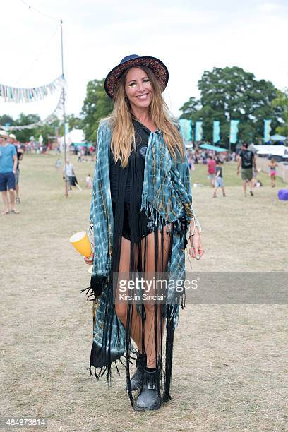 Hair Stylist Natalie Wood wears All Saints boots Rosa Bloom shorts and top vintage tassles Zara hat and a Kimono from a festival on day 2 of the...