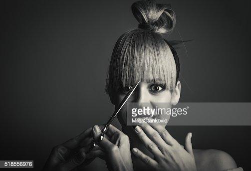Haircut portrait