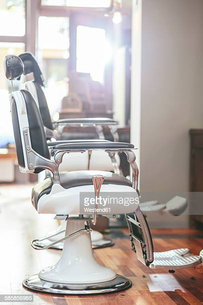 Hairdresser chairs in a barber shop
