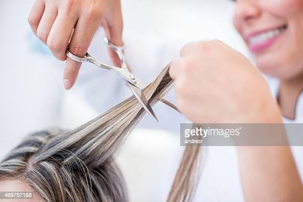 Coiffeur coupe de cheveux
