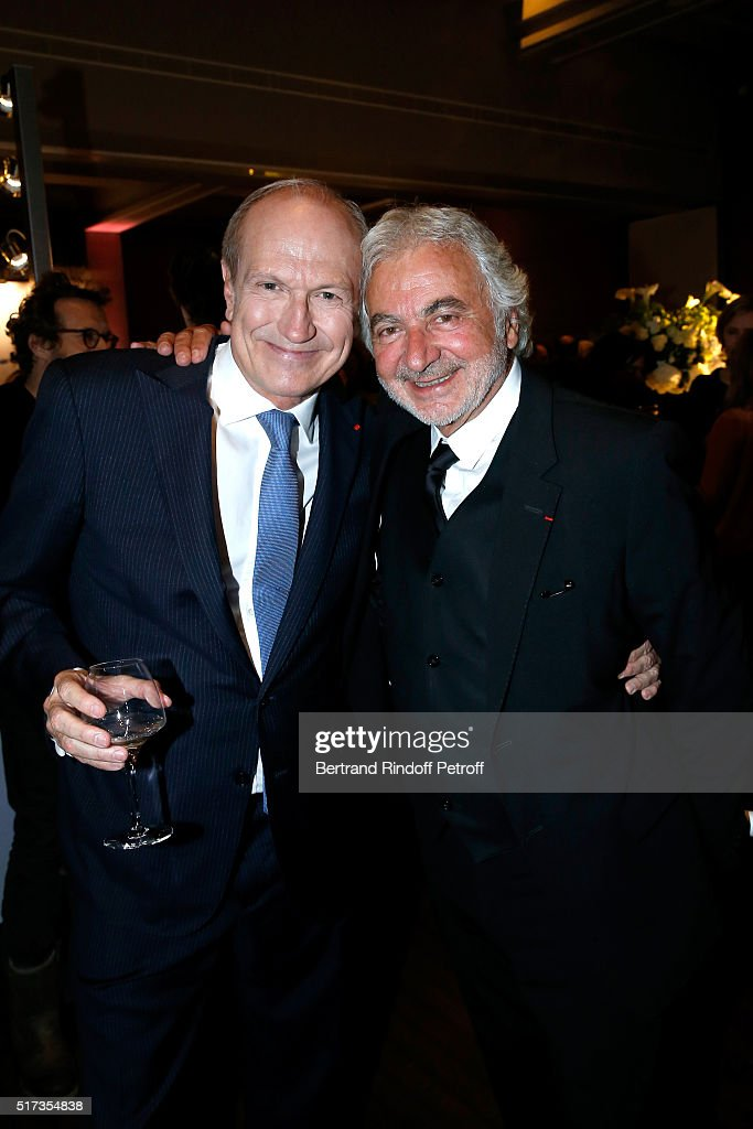 Hairdresser <a gi-track='captionPersonalityLinkClicked' href=/galleries/search?phrase=Franck+Provost&family=editorial&specificpeople=616898 ng-click='$event.stopPropagation()'>Franck Provost</a> and Chairman & Chief Executive Officer of L'Oreal, Chairman of the L'Oreal Foundation <a gi-track='captionPersonalityLinkClicked' href=/galleries/search?phrase=Jean-Paul+Agon&family=editorial&specificpeople=675160 ng-click='$event.stopPropagation()'>Jean-Paul Agon</a> attend the 'L'Oreal-UNESCO Awards 2016 For Women in Science International', hosted by Fondation l'Oreal at Maison de la Mutualite on March 24, 2016 in Paris, France.