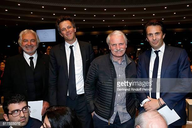 Hairdresser Franck Provost Arthur Sadoun Photographer Yann ArthusBertrand and Yannick Bollore attend the 'L'OrealUNESCO Awards 2016 For Women in...