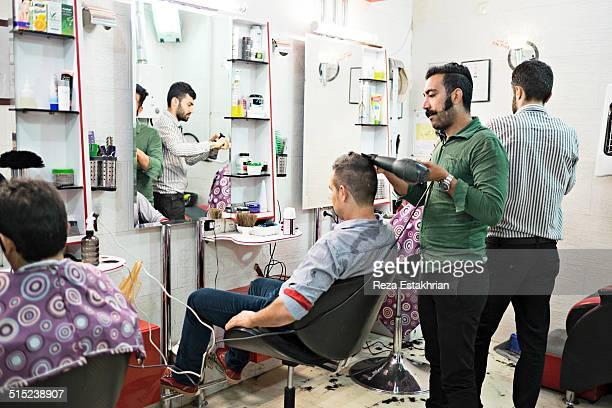Hairdresser in an affluent neighborhood in Shiraz