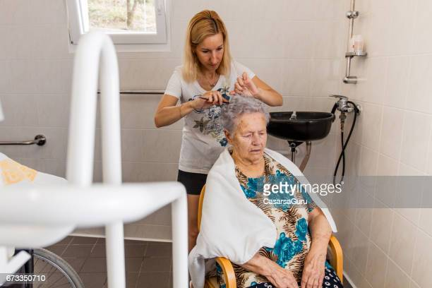 Hairdresser In The Retirement Home