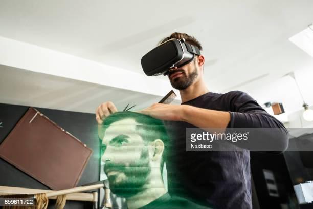 Hairdresser virtual trainer