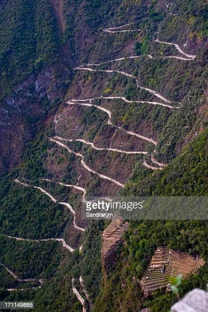 Hairpin Turns leading to Machu Picchu