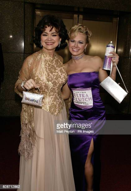 Hairspray's Linda Hart and Laura Bell Bundy arrive at the 2003 Tony Awards at Radio City Music Hall in New York City