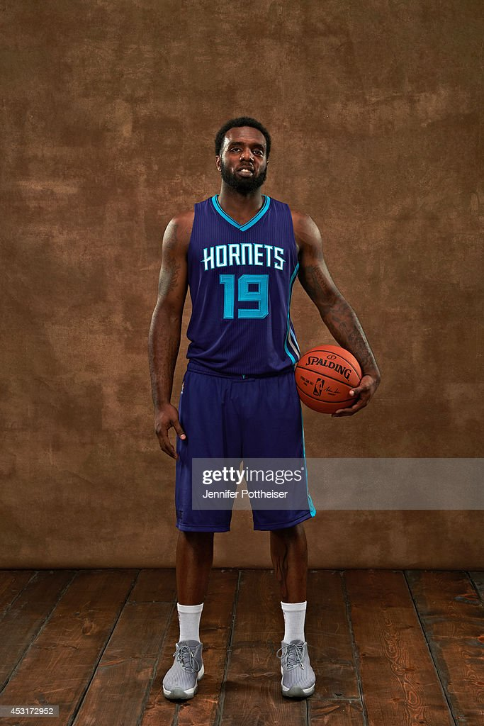 <a gi-track='captionPersonalityLinkClicked' href=/galleries/search?phrase=P.J.+Hairston&family=editorial&specificpeople=7621185 ng-click='$event.stopPropagation()'>P.J. Hairston</a> of the Charlotte Hornets poses for a portrait during the 2014 NBA rookie photo shoot on August 3, 2014 at the Madison Square Garden Training Facility in Tarrytown, New York.