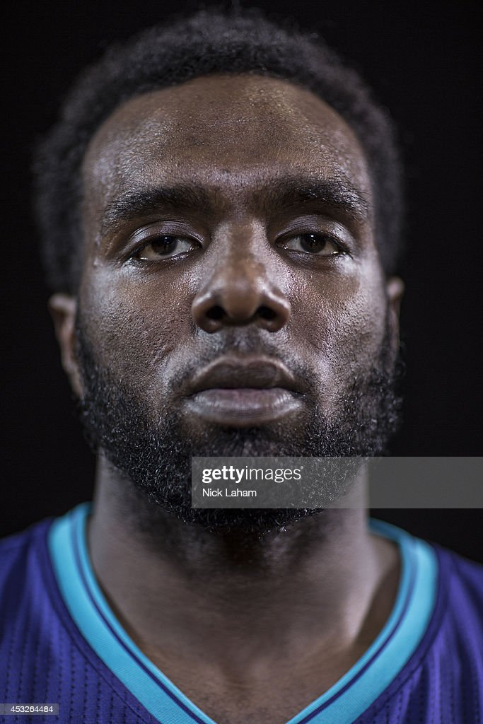 <a gi-track='captionPersonalityLinkClicked' href=/galleries/search?phrase=P.J.+Hairston&family=editorial&specificpeople=7621185 ng-click='$event.stopPropagation()'>P.J. Hairston</a> #19 of the Charlotte Hornets poses for a portrait during the 2014 NBA rookie photo shoot at MSG Training Center on August 3, 2014 in Tarrytown, New York.