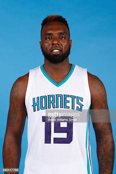 J Hairston of the Charlotte Hornets poses for media day at the Time Warner Cable Arena on February 4 2015 in Charlotte North Carolina NOTE TO USER...