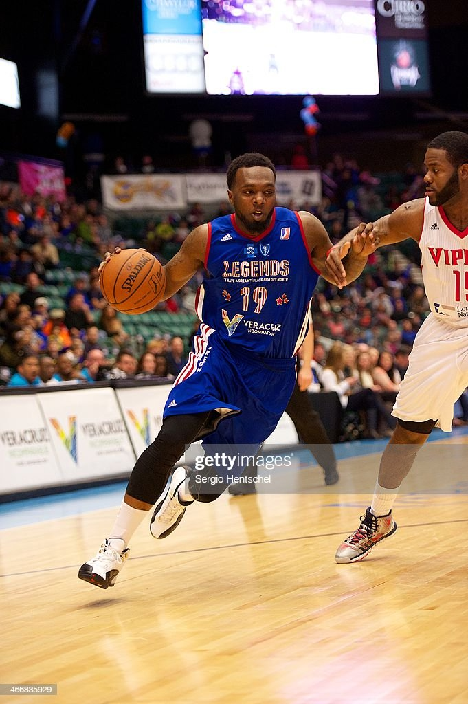 P.J. Hairston #19 of the Texas Legends dribbles the ball during the game against the Rio Grande Valley Vipers on February 1, 2014 at Dr. Pepper Arena in Frisco, Texas.