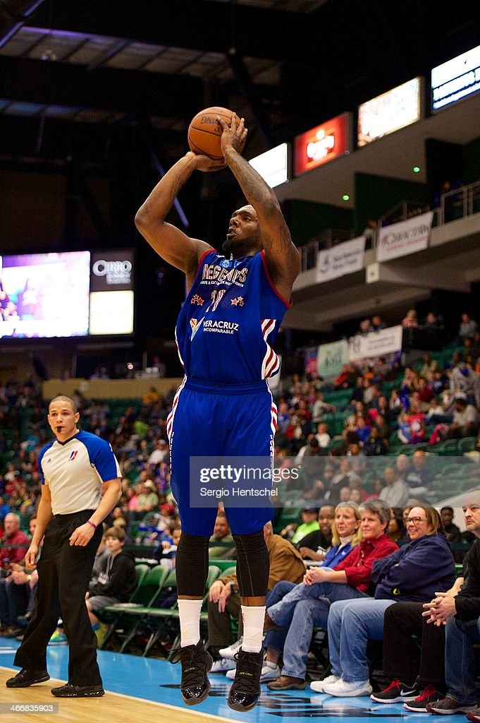 P.J. Hairston #19 of the Texas Legends shoots the ball during the game against the Rio Grande Valley Vipers on February 1, 2014 at Dr. Pepper Arena in Frisco, Texas.