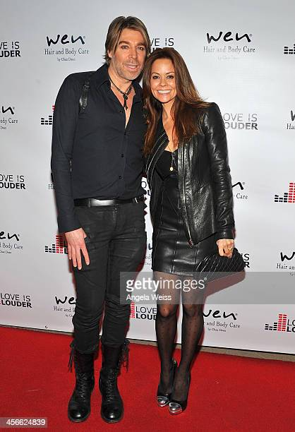 Hairstylist and creator of WEN Chaz Dean and actress Brooke Burke attend Chaz Dean's Holiday Party benefiting The Love is Louder Movement at a...