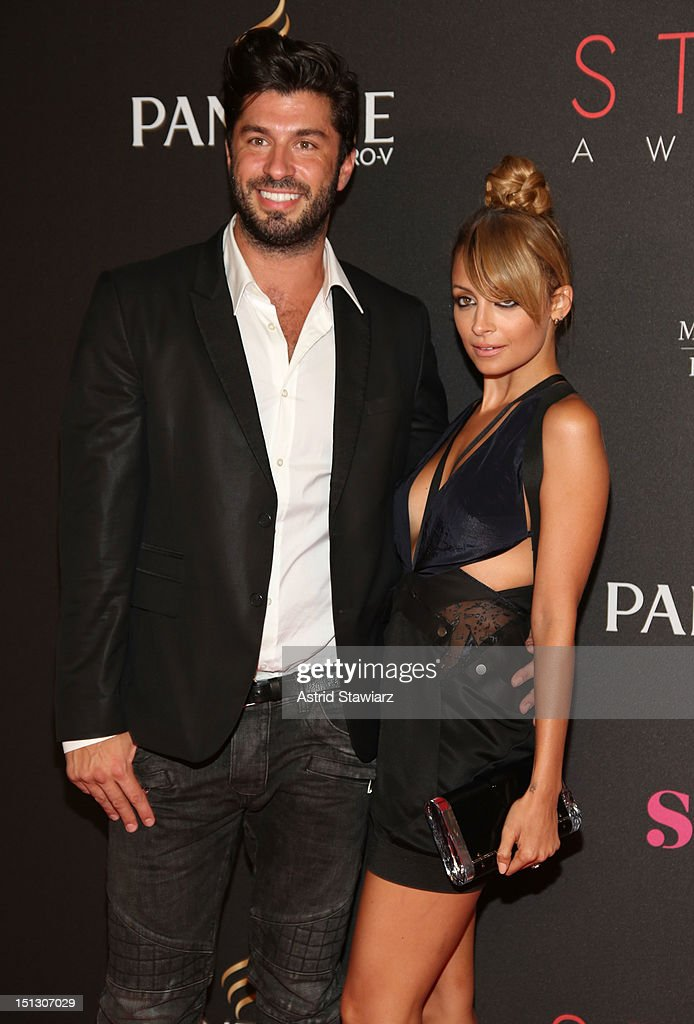 Hairstylist Andy Lecompte and TV personality <a gi-track='captionPersonalityLinkClicked' href=/galleries/search?phrase=Nicole+Richie&family=editorial&specificpeople=201646 ng-click='$event.stopPropagation()'>Nicole Richie</a> attend the 9th annual Style Awards during Mercedes-Benz Fashion Week at The Stage at Lincoln Center on September 5, 2012 in New York City.
