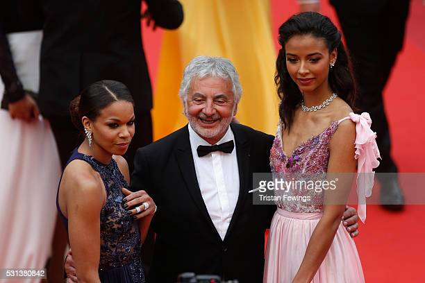 Hairstylist Franck Provost and Flora Coquerel attend the 'The BFG' Premiere during the annual 69th Cannes Film Festival at the Palais des Festivals...