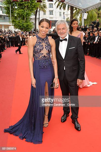 Hairstylist Franck Provost and guest attend the 'The BFG' Premiere during the annual 69th Cannes Film Festival at the Palais des Festivals on May 14...