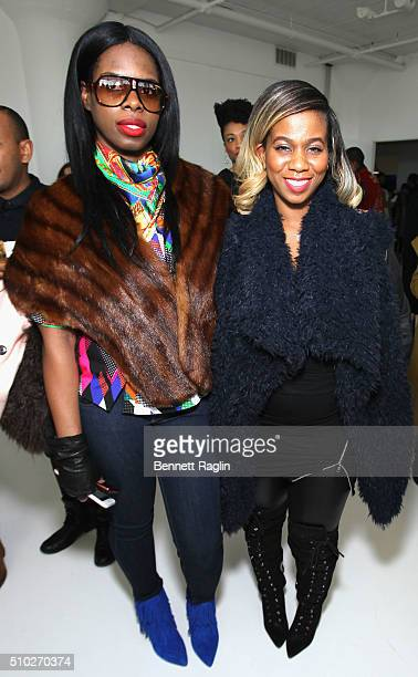 Hairstylist Lavette Slater and guest attend SheaMoisture at Laquan Smith F/W 2016 NYFW at Jack Studios on February 14 2016 in New York City