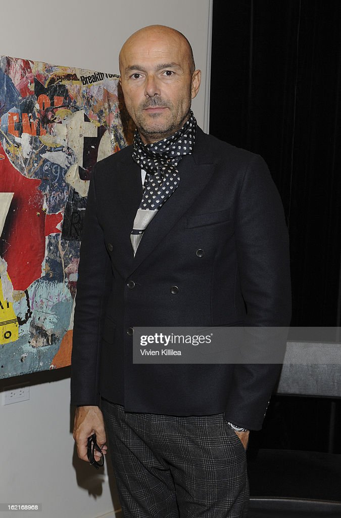 Hairstylist Rossano Ferretti attends Art + Beauty Oscar Celebration For NYC Contemporary Artist Bobby Hill at Metodo Rossano Ferretti Hair Spa on February 19, 2013 in Beverly Hills, California.