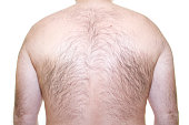 hairy back of a man