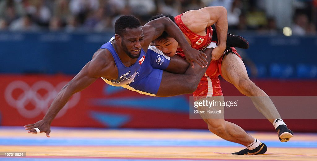 Haislan Veranes Garcia would lose to Tatsuhiro Yonemitsu from in 66kg freestyle wrestling at the London 2012 Olympic Games at the ExCel Center in...
