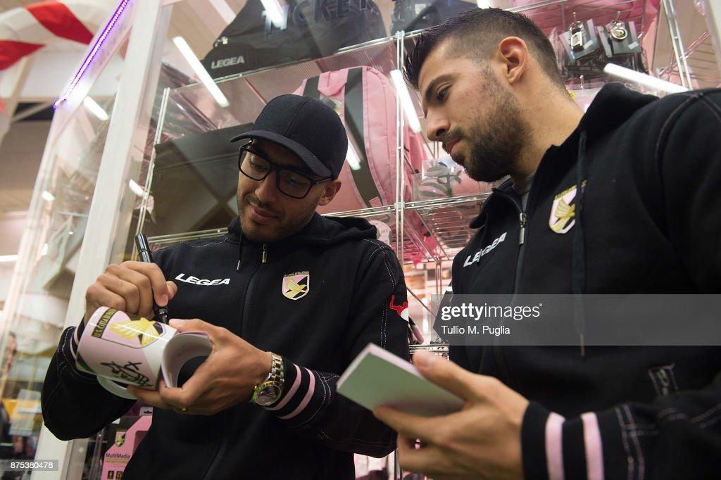 Haitam Aleesami And Aleksandar Trajkovski Visit US Citta di Palermo Store