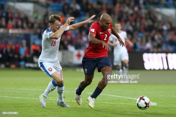 Haitam Aleesami of Norway and Ladislav Krejci of Czech Repubublic during the FIFA 2018 World Cup Qualifier between Norway and Czech Republic at...