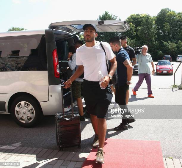 Haitam Aleesami of Palermo arrives at the hotel on July 12 2017 in Gradisca d'Isonzo Italy
