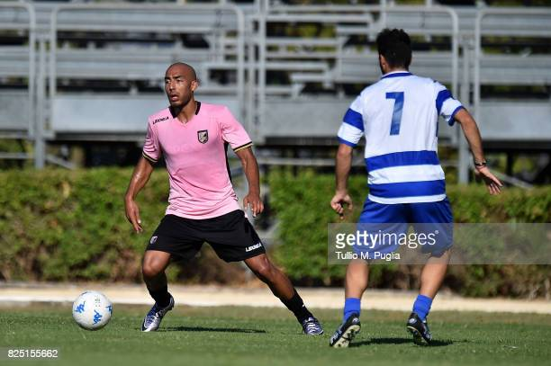 Haitam Aleesami of Palermo in action during a friendly match between US Citta' di Palermo and Monreale at Carmelo Onorato training center on July 30...