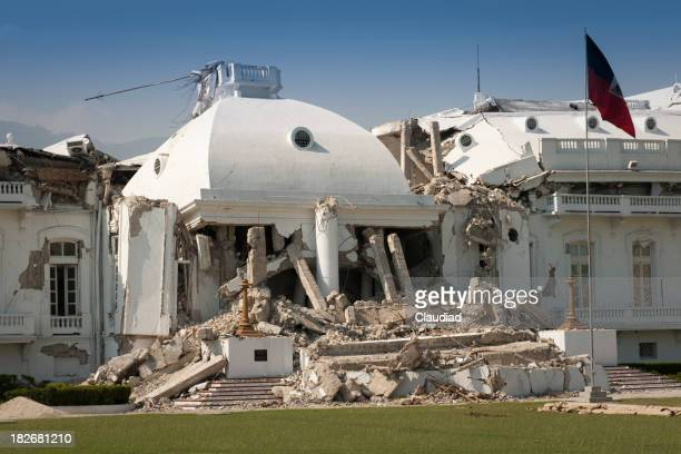 Haitian president palace after the earthquake