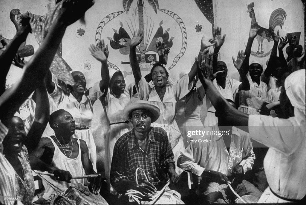 Haitian voodoo ritual.