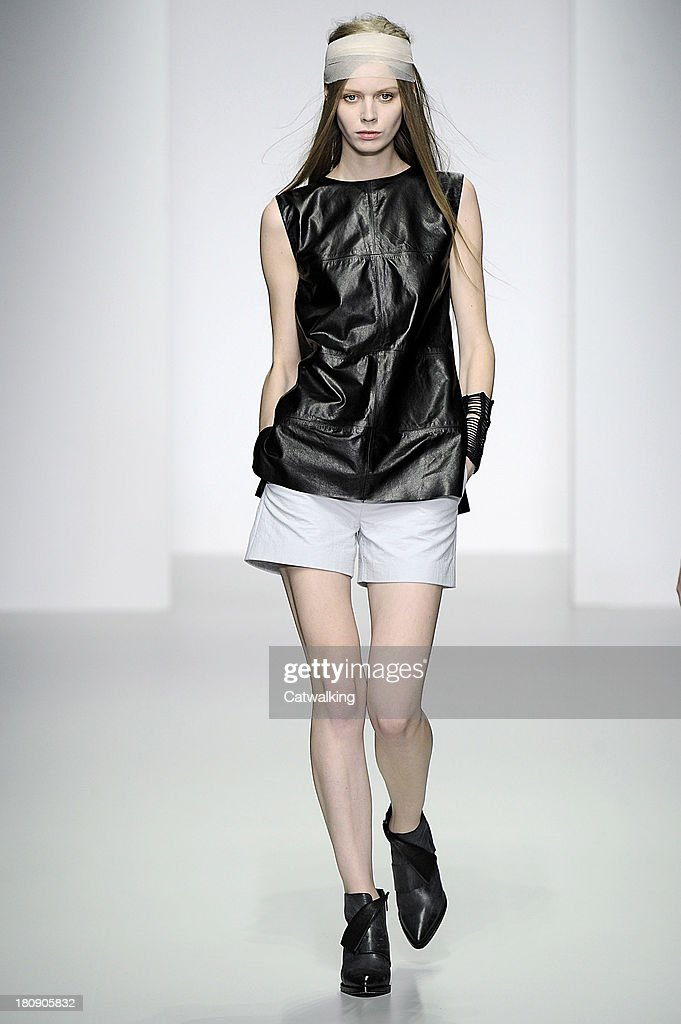 Haizhen Wang Spring Summer 2014 fashion show during London Fashion Week on September 17 2013 in London United Kingdom