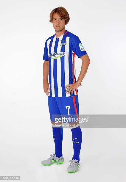 Hajime Hosogai of Hertha BSC during a portrait session for the 2015/16 season on August 6 2015 in Berlin Germany