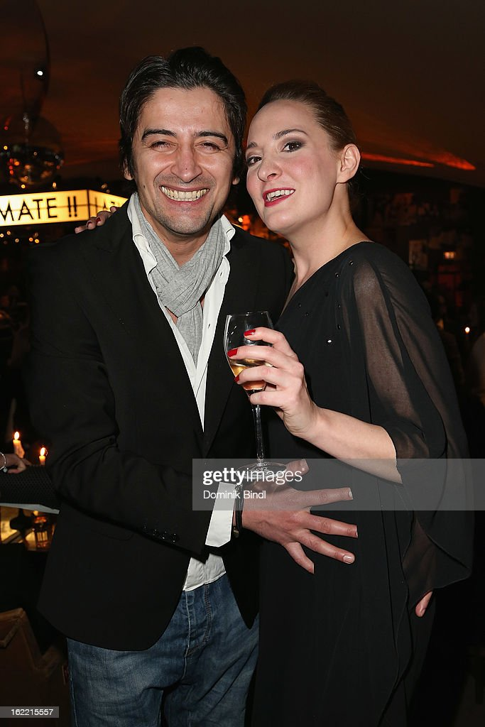 Hakan Adrian Can and guest attend the Lazy Moon Dinner Club opening party on February 20, 2013 in Munich, Germany.