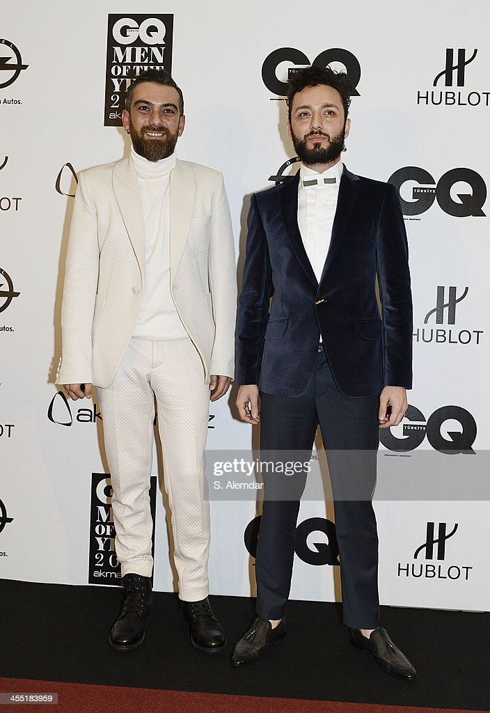 Hakan Akkaya and Mabel Matiz attend the GQ Turkey Men of the Year awards at Four Seasons Bosphorus Hotel on December 11, 2013 in Istanbul, Turkey.