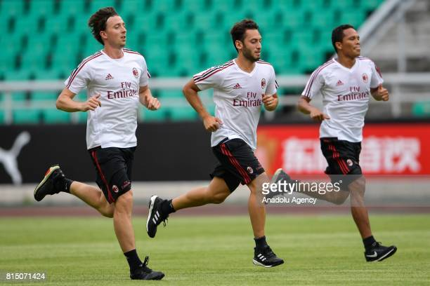 Hakan Calhanoglu of AC Milan attends a training session ahead of the 2017 International Champions Cup football match between AC Milan and Borussia...