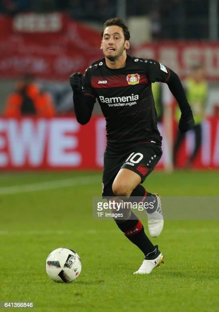 Hakan Calhanoglu of Leverkusen in aktion during the Bundesliga soccer match between 1 FC Cologne and Bayer Leverkusen at the RheinEnergie stadium in...