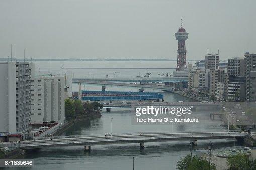 Hakata Port in the morning : ストックフォト