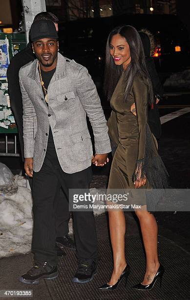 Hakeem Nicks and Ariel Meredith are seen on February 18 2014 in New York City
