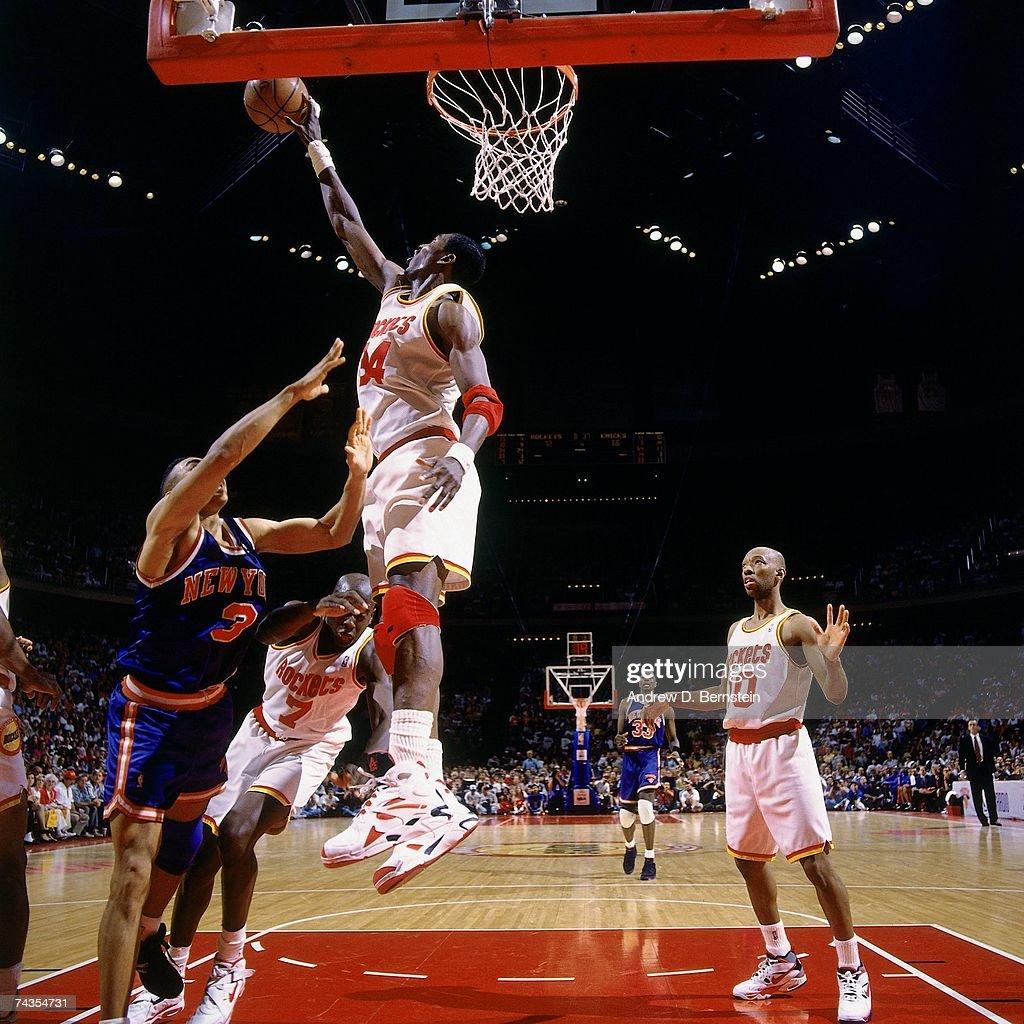Ho houston rockets nba championship - Hakeem Olajuwon 34 Of The Houston Rockets Blocks A Shot During Game Six Of The