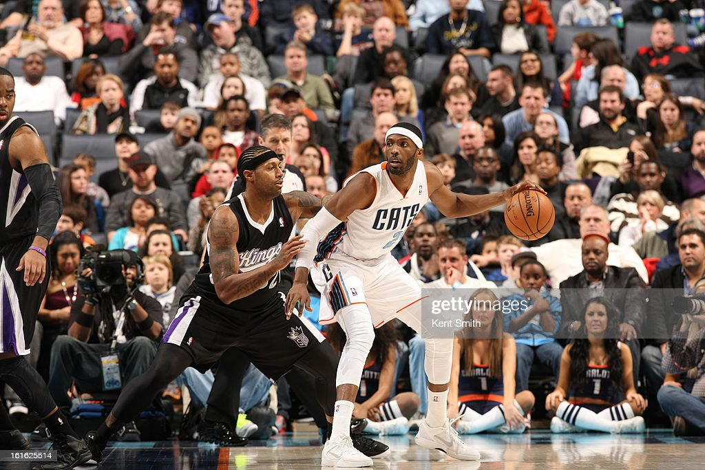 <a gi-track='captionPersonalityLinkClicked' href=/galleries/search?phrase=Hakim+Warrick&family=editorial&specificpeople=210640 ng-click='$event.stopPropagation()'>Hakim Warrick</a> #21 of the Charlotte Bobcats drives to the basket against the Sacramento Kings at the Time Warner Cable Arena on January 19, 2013 in Charlotte, North Carolina.