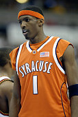 Hakim Warrick of the Syracuse Orangemen in the second round game of the NCAA Division I Men's Basketball Tournament against the Maryland Terrapins at...